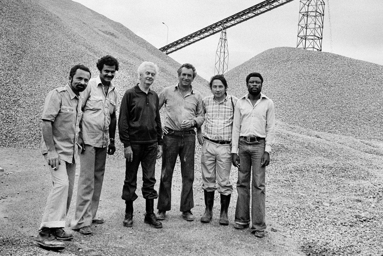 001 Mario Dondero nel cantiere della ferrovia transgaboniana, Gabon, 1978