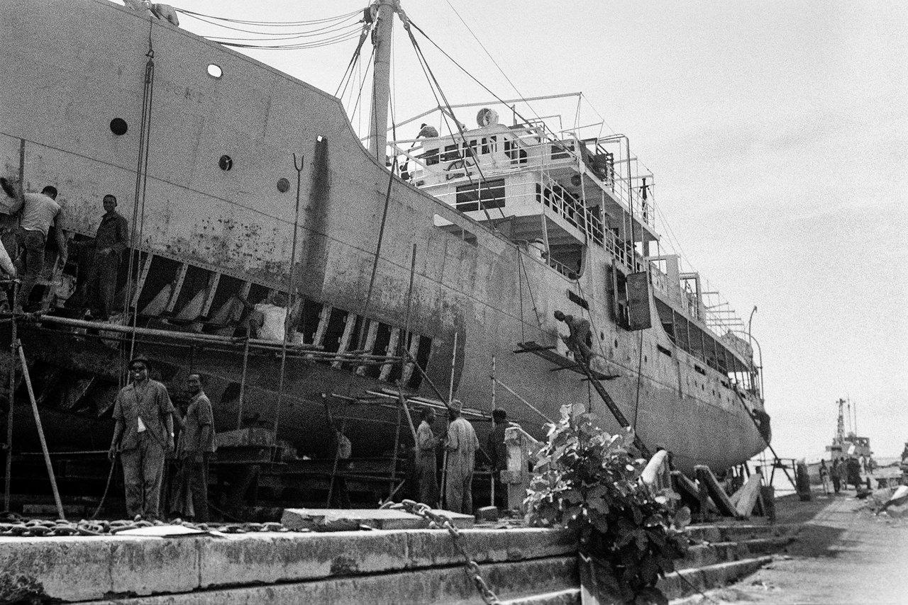 022 Cantiere navale, Dakar, Senegal, 1970
