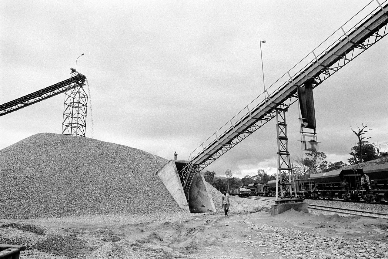 024 Cantiere della ferrovia transgaboniana, Gabon, 1978