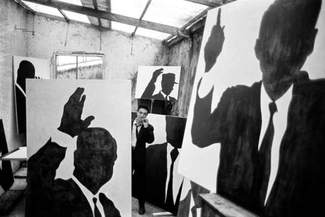 ARTISTI - 3 – Sergio Lombardo, il pittore nel suo studio, Roma, 1961