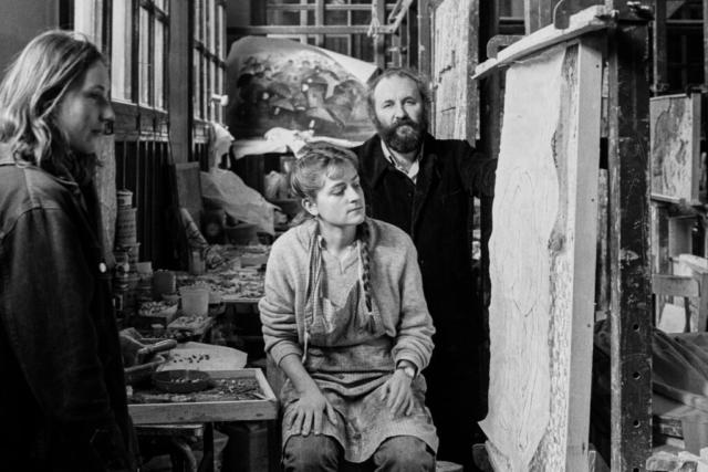 ARTISTI - 4 – Riccardo Licata, l'artista con i suoi allievi, Venezia, fine anni '70