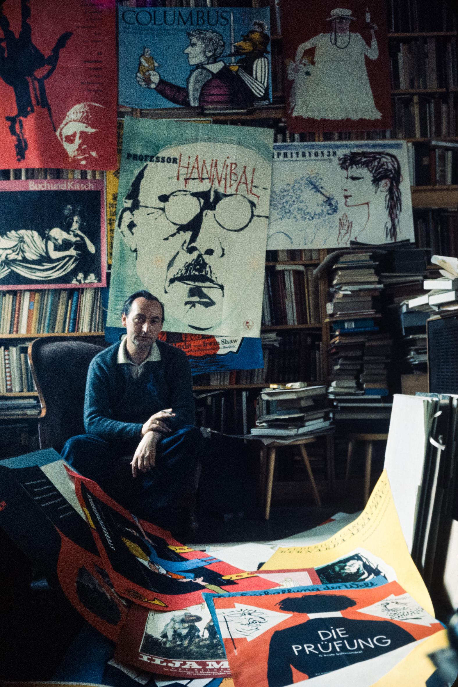 GRAFICI a colori - 7 – Il disegnatore della DDR Werner Klemke, Berlino, anni '60