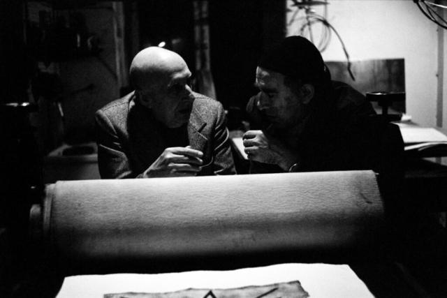 ARTISTI - 9 – Fausto Melotti e Nino Franchina, Milano, anni '70