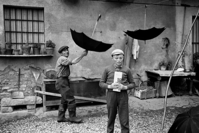 SCUOLA - 10 – Prima della lezione, campagna di Reggio Emilia, 1964