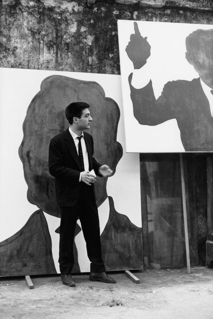 Sergio Lombardo (1939) Il pittore fuori dal suo studio Roma, 1961