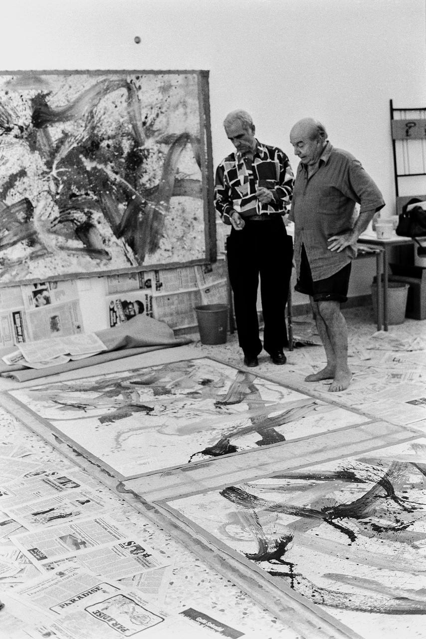 Toti Scialoja (1914-1998) Il pittore nel suo studio Roma, anni '90